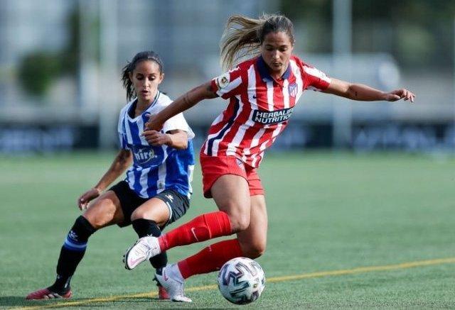 Deyna Castellanos logro su primer gol con el Atlético de Madrid femenino