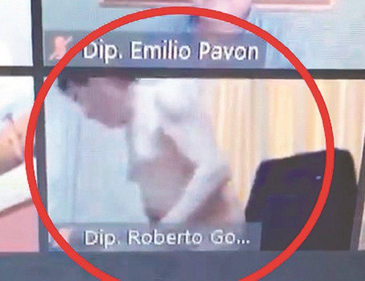 Diputado paraguayo es captado semidesnudo en sesion del congreso vía zoom