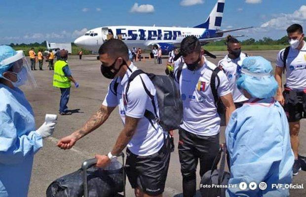 Ya la Vinotinto esta en Mérida para enfrentar a Paraguay el 13-O
