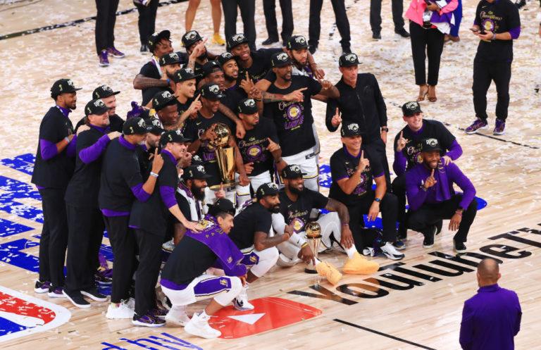 Los Lakers son de nuevo campeones de la NBA y dedican el título a Kobe Bryant