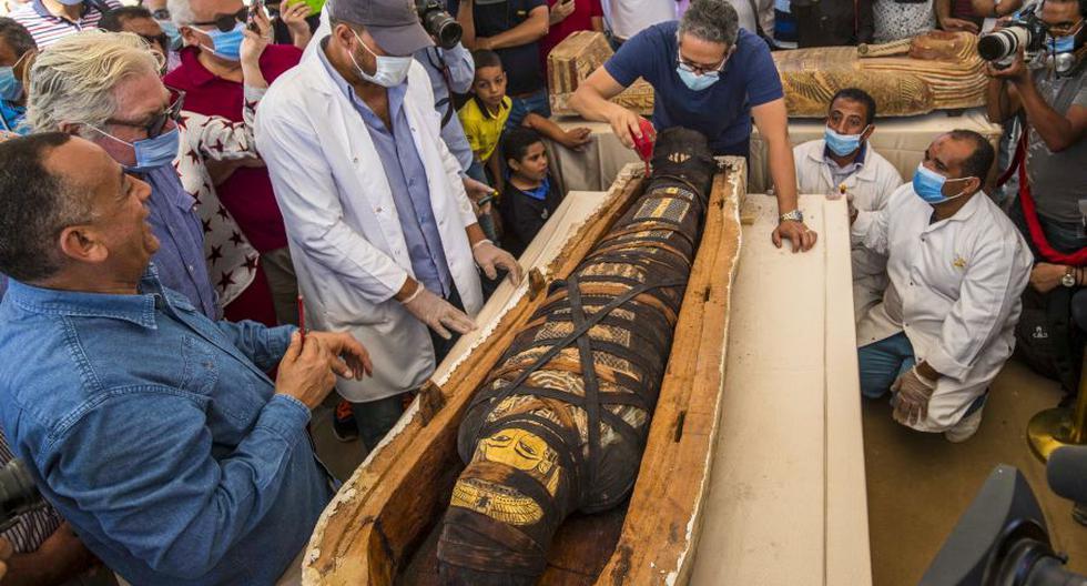 Egipto presenta al mundo 59 impresionantes sarcófagos de 2.600 años hallados con momias en su interior