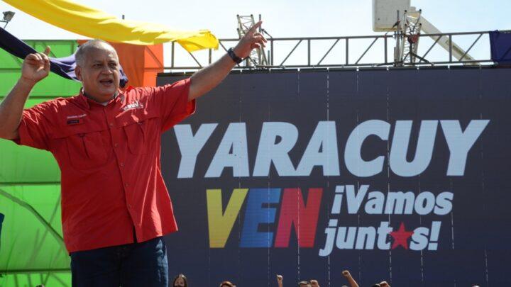 """Diosdado Cabello: """"el 6 vamos por 6 porque enVenezuela decide el pueblo"""""""