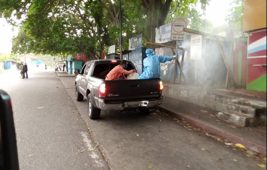 Protección Civil cumple desinfección en alrededores del hospital central de San Felipe