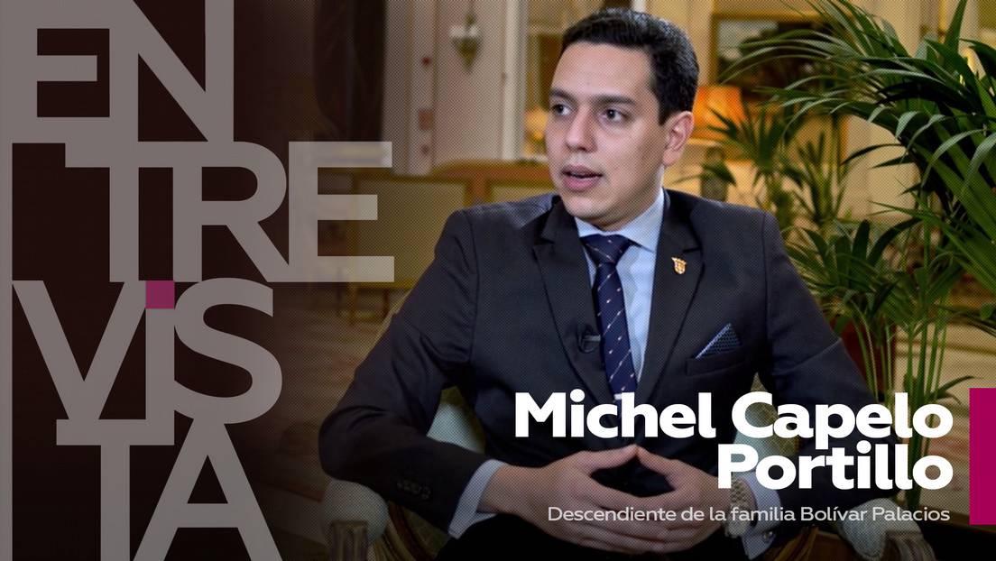 """Michel Capelo Portillo, descendiente del Libertador: """"Simón Bolívar es sinónimo de libertad"""""""