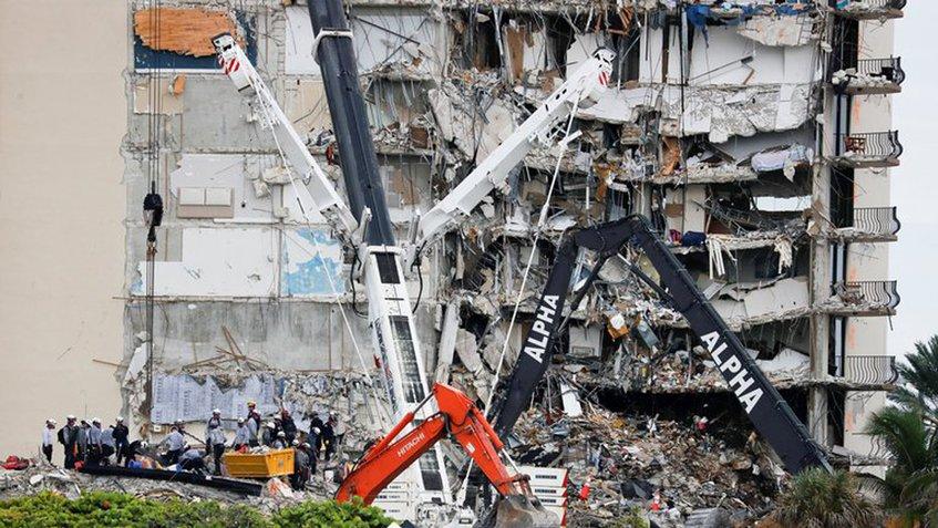 Derrumbe en Miami: Número de muertos sube a 16 tras el hallazgo de cuatro cuerpos bajo los escombros
